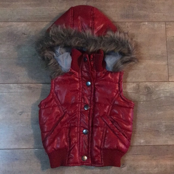 c1bc7888a Little Miss Attitude Jackets & Coats   Girls 2t Red Puffer Vest With ...